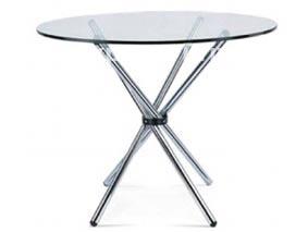 Стол круглый, стекло/хром, арт. 31