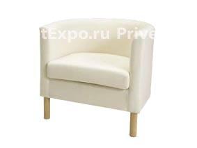 Кресло белое/кожзам