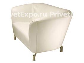 Кресло белое, кожа НИЦЦА на 1 чел.