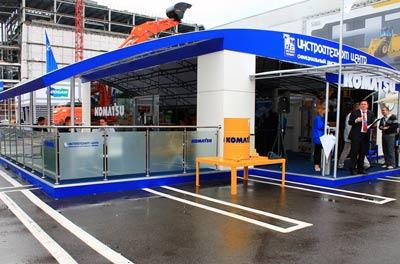 Выставочный стенд Инстройтехком Центр (Komatsu)